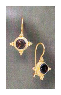 14k Persephone Smoky Topaz Earrings