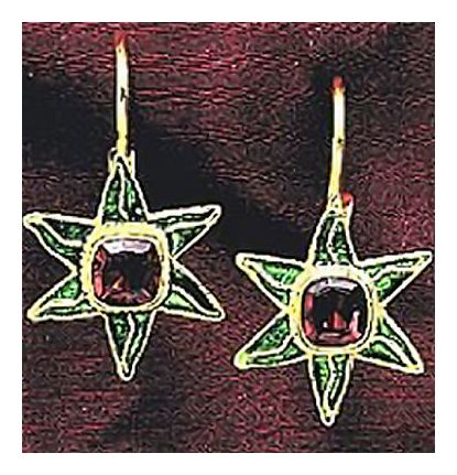 14k Garnet Holiday Earrings