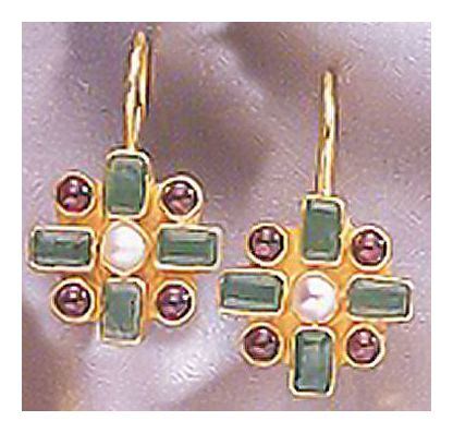 14k Emerald Chamber Earrings