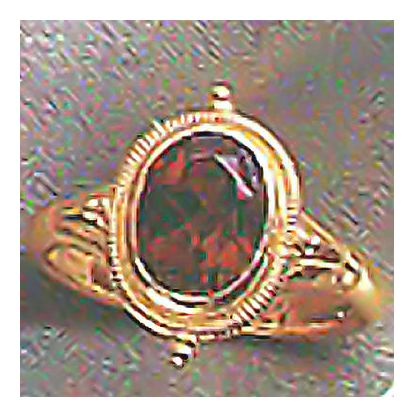 14k Grosvenor Garnet Ring