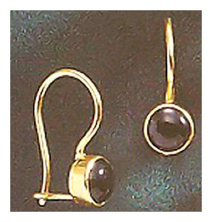 14k Onyx Midnight Earrings