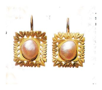 14k Pearl Gallery Earrings