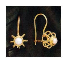 Empire Pearl Earrings (14k)