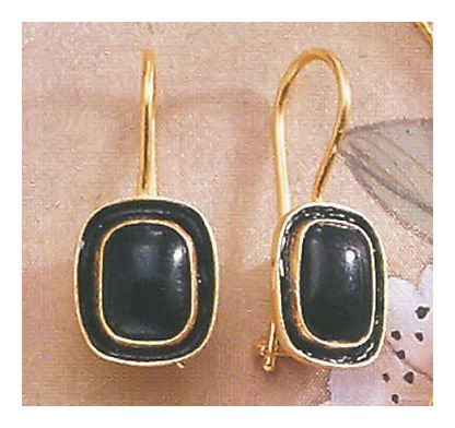 14k Mary Shelley Onyx Earrings
