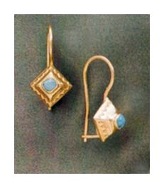 14k Liguria Turquoise Earrings