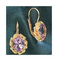 14k Sweet Adeline Amethyst Earrings