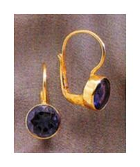 India Iolite Earrings (14k)