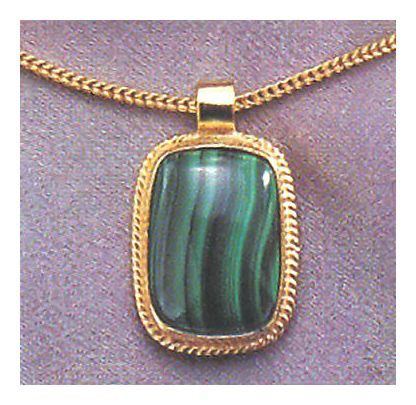 14k Middle Kingdom Malachite Necklace