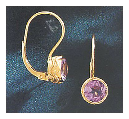 14k Amethyst Birthstone Earrings