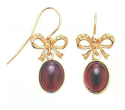 14k Cake Walk Garnet Earrings