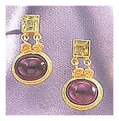 14k Verona Garnet & Peridot Earrings
