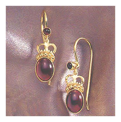 14k Queen Bess Garnet Earrings