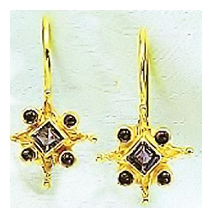 14k Wishing Star Earrings