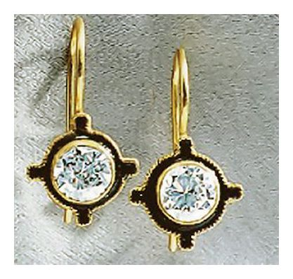 14k Stargazer Earrings