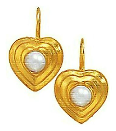 14k Pearl Sweetheart Earrings