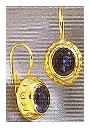 14k Crown Iolite Earrings
