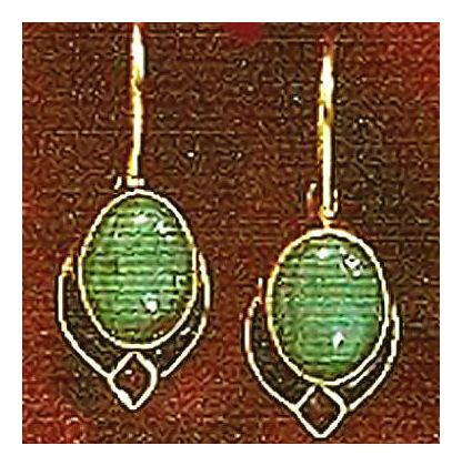 14k Diana's Shield Earrings