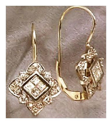 14k Marguerrite De Navarre Diamond Earrings (.65ct)