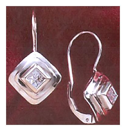14k Diamond Deco Earrings (.33ct)