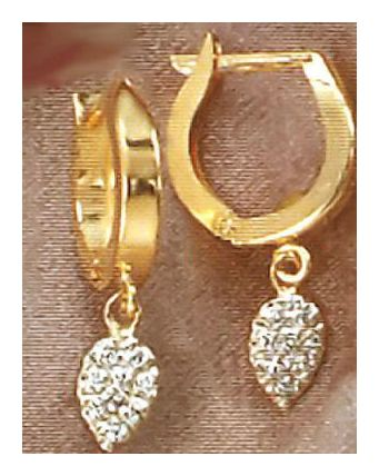 14k Empress Josephine Diamond Earrings (.07ct)