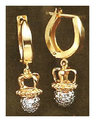14k Diamond Diadem Earrings (.37ct)