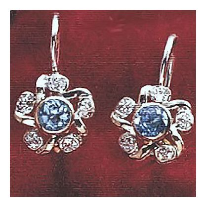 14k Diamond Floretta Earrings (.10ct)
