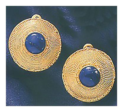 Ceylon Lapis Earrings-Clip Back