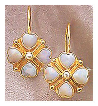 Cecily Opal and Pearl Earrings