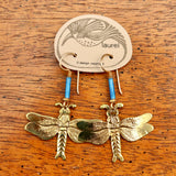 Vintage Laurel Burch Dragonfly Earrings