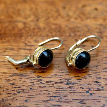Meg Pepperidge Onyx Earrings