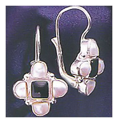 Silver Renaissance Onyx Earrings