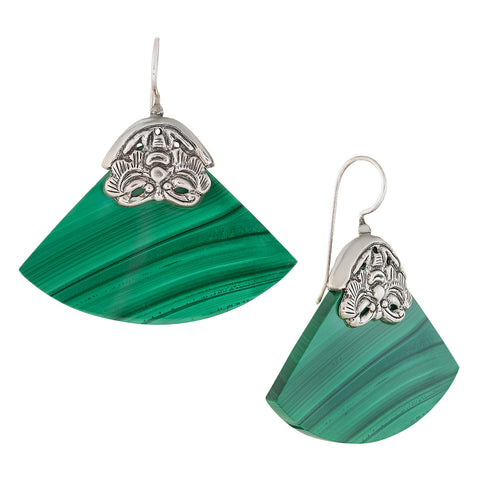 Vintage Shashi Qingming Malachite Earrings