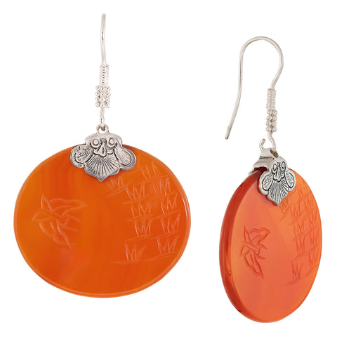 Vintage Shashi Carnelian Butterfly Lovers Earrings