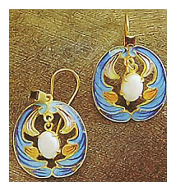 Swan Lake Earrings-Screw Backs