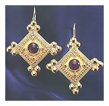 Devi Garnet Earrings