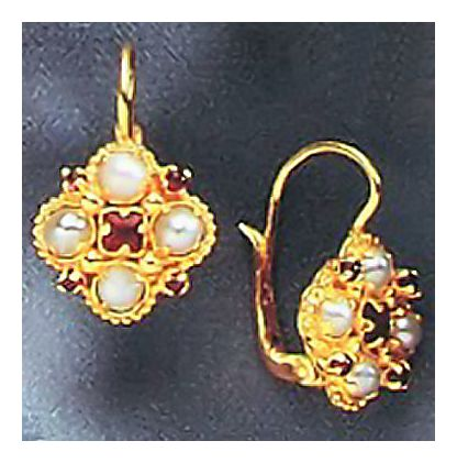 Lady Montague Garnet & Pearl Earrings