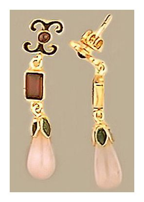 Fontainbleau Rose Quartz and Garnet Earrings