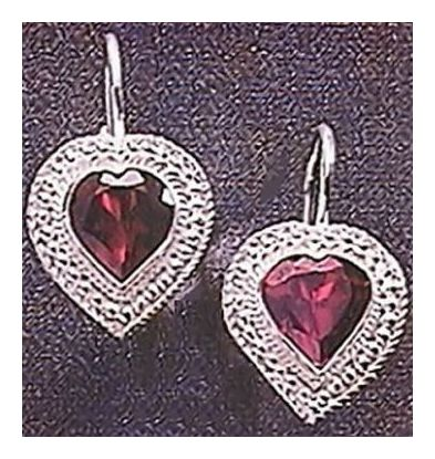 My Lady Garnet Earrings