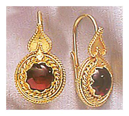 Lycia Garnet Earrings