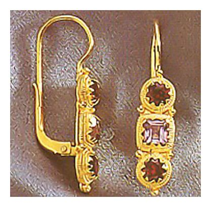 Thira Amethyst and Garnet Earrings