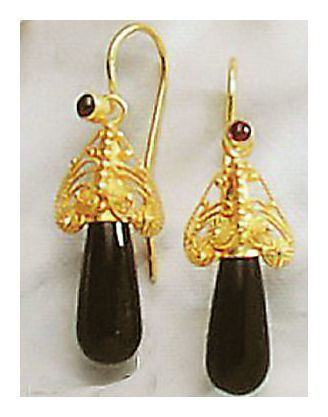 Drury Lane Onyx Earrings-Screw Backs