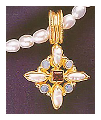 Botticelli Pearl, Opal, Garnet Necklace