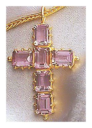 Anglican Amethyst Cross Necklace