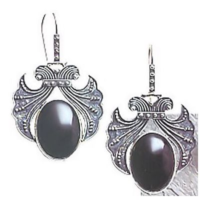 Evita Onyx Earrings