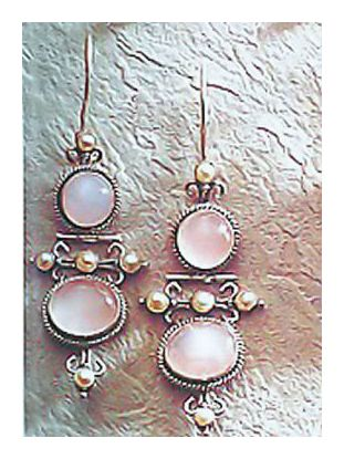 Frederica Rose Quartz Earrings