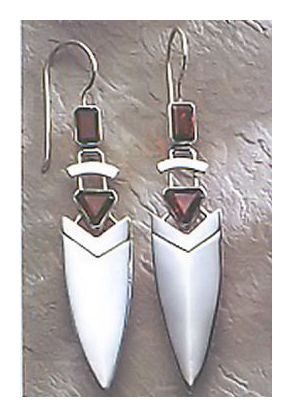 Silver Arrow Deco Earrings