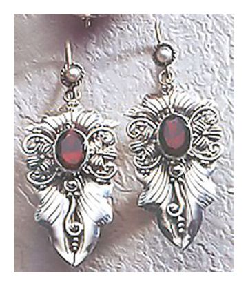 Silver Art Nouveau Earrings