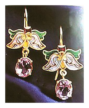 Irina Amethyst Earrings-Screw Backs