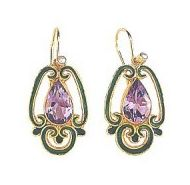 Sylvan Amethyst Earrings-Screw Backs