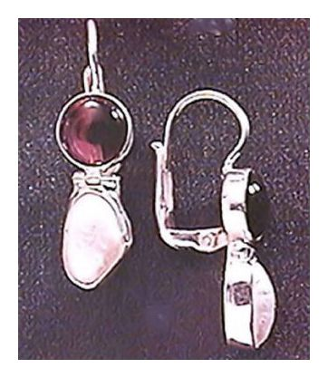 Trafalgar Garnet & Pearl Earrings